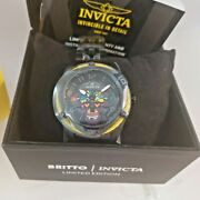 33522 Britto 38mm Womenand039s Black Band Limited Edition 092/1000 Watch