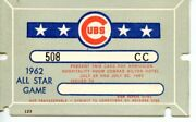 1962 All-star Game Hospitality Pass At Wrigley Field