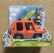 Bluey Heeler 4 Wd Family Vehicle With Bandit Figure And 2 Surf Boards