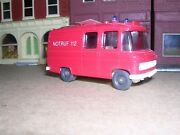 Wiking 608 Mercedes Step Van Fire Service Red -- Imported 1975 H.o.1/87