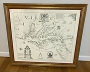 Augustine Herrman 1670 Map Virginia Maryland And Delaware Dr Ronald Finch Estate