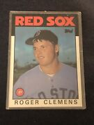 1986 Topps Roger Clemens 661 Baseball Card Red Sox Nm Mt