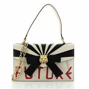 Osiride Top Handle Bag Printed Leather With Applique Small