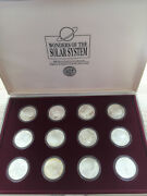 Wonders Of The Solar System, 12 X Silver 50 Marshall Islands 1994, Complete Set