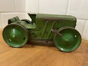 Rare Vintage 1950's Marx Tin Litho Wind-up Tractor - Working Condition Usa 🇺🇸