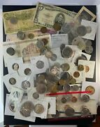 Us And Foreign Coin And Currency Lot, Great Beginner Set, Lot 19