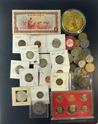 Us And Foreign Coin And Currency Lot, Great Beginner Set, Lot 12