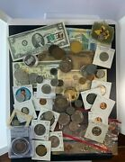 Us And Foreign Coin And Currency Lot, Great Beginner Set, Lot 18