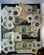 Us And Foreign Coin And Currency Lot, Great Beginner Set, Lot 23
