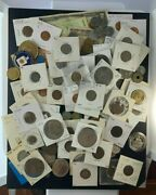 Us And Foreign Coin And Currency Lot Great Beginner Set Lot 25