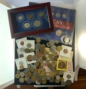 Us And Foreign Coin And Currency Lot, Great Beginner Set, Lot 35