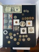 Us And Foreign Coin And Currency Lot Great Beginner Set Lot 3