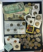 Us And Foreign Coin And Currency Lot, Great Beginner Set, Lot 21