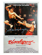 A3 Bloodsport Poster Signed By Bolo Yeung 100 Authentic With Coa