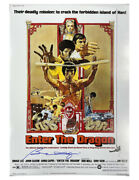A2 Enter The Dragon Poster Signed By Bolo Yeung 100 Authentic With Coa