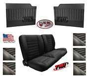 Sport 55 Bench Seat And Flat Door Panels W/ Pockets For 1953 - 55 Ford Truckand039s