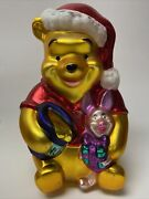 Disney Winnie The Pooh And Piglet 11 Blown Glass Tabletop Ornament Decoration