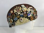 Vintage Authentic Russian Military Hat Size 57 - 3 Patches - 40 Pins/medals