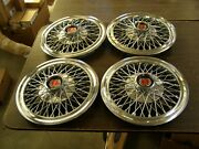 Oem Ford 1974 1978 Wire Wheel Covers Set Mustang Ii Granada 1975 1976 1977 Nos
