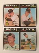 4 Topps 1971 Baseball Card Set Break-san Francisco Giants Vg-vg/ex Lot7/1970/9