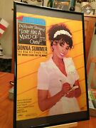 Big 11x17 Framed Donna Summer Love Has A Mind Of Its Own 1982 45 Single Lp Ad