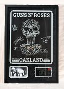 Guns N Roses Signed X5 Framed And Matted Lithograph - Axl Rose - 35x 23 3/4 W/coa