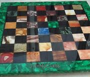 Square Shape Marble Game Table Elegant Design Coffee Cum Chess Table 30 Inches