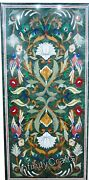 Green Marble Dining Table Top Pietra Dura Art Kitchen Table Size 30 X 60 Inches