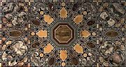 30 X 60 Inches Black Handmade Coffee Table Top Marble Kitchen Table Inlay Work
