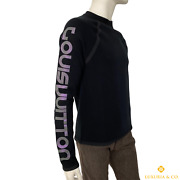 New Authentic Louis Vuitton Scuba Style Sweater With Reflective Print S 281k