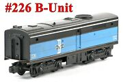 Lionel Pw 226 Boston And Maine Bandm Alco B-unit Only /045/ 1960 Vgood