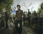 The Walking Dead Cast X7 Signed Autograph 11x14 Photo - Andrew Lincoln++ Rare