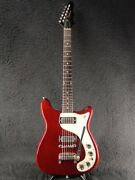 Epiphone Wilshire Cherry 1967 Years Made Tremotone Red Electric Guitar Used