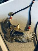 Graver Metal Works Eagle Silver Pendant Size Width About 75mm Used