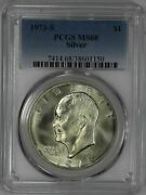 1973 S Eisenhower Ike Dollar 1 Pcgs Certified Ms 68 Mint State 40 Silver 150