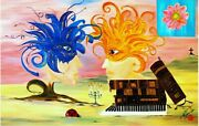 Art Painting Surrealism Know How Very Special Signed . Original . Limited .