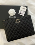20k Classic Caviar Leather Clutch, Nwt, Rare / Sold Out