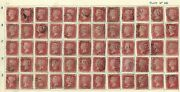 Great Britain Queen Victoria Stamp 33 Plate 141 - Fully Reconstructed Sheet 240