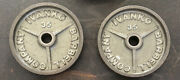 """Ivanko Barbell 35 Lb Om-series 2"""" Olympic Weight Plates Usa Stamp Vintage 3"""