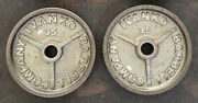 """Ivanko Barbell 35 Lb Om-series 2"""" Olympic Weight Plates Usa Stamp Vintage 4"""