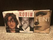 Biography Books-john Lennon, Robin Williams By Dave Itzkoff, Leni Riefenstahl