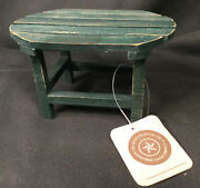 Boyds Collection Investment Collectable Wood Green Oval Table W/tag Hard To Find