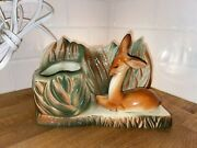 Vintage Lane And Co Mid Century Bambi Deer Planter Tv Lamp Works New Cord