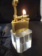 Dunhill Unique Bijou Petrol Lighter - Gold Plated - Smooth Finish