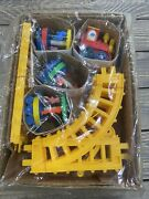Vintage Plastic Made In China Train Track Carousel Toy Engine Yellow