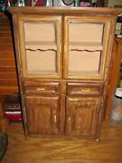 Vintage Dollhouse Dresser Hutch Maple Town Story Dining Room China Cabinet