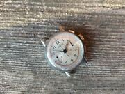 Vintage Angelus Chronograph Military Aviator Watch Caliber 215 From 1940and039s