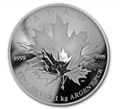 2018 Canada 250 Maple Leaf Forever 9999 Silver 1 Kilo Curved Coin W/ogp And Coa