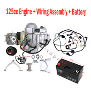 125cc Semi Auto Electric Start Engine Motor Wiring Carburetor Air Filter Battery