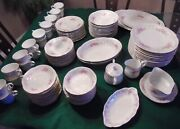 96 Piece Dinnerware Set Of Cascade Fine China 3682 For 12 Persons Made In Japan